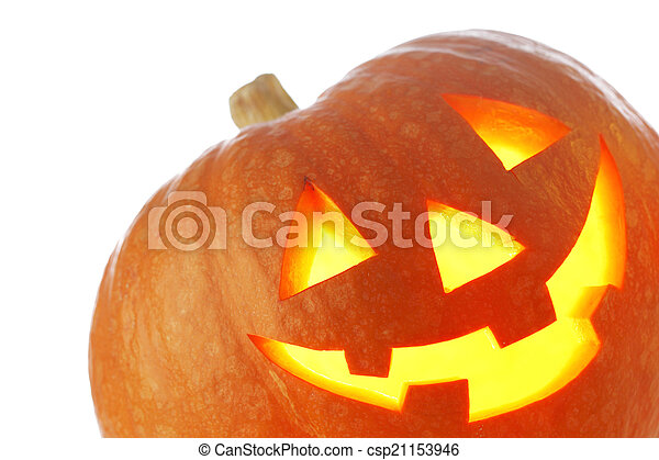 Jack O Lantern halloween pumpkin - csp21153946