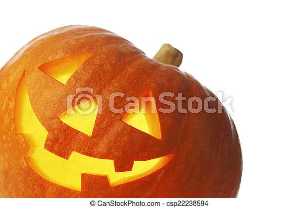 Jack O Lantern halloween pumpkin - csp22238594
