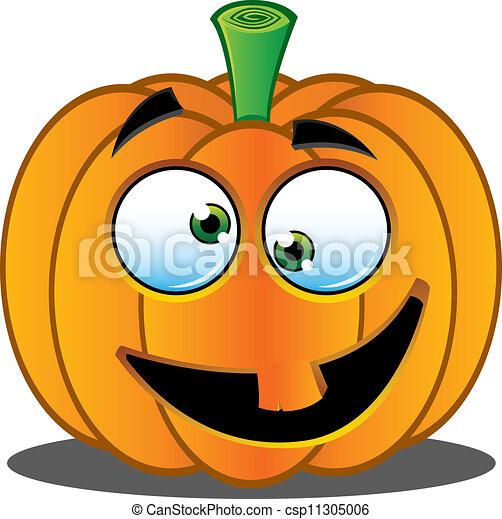 jack o lantern pumpkin face 4 a vector illustration of a pumpkin rh canstockphoto com halloween pumpkin face clipart happy face pumpkin clip art