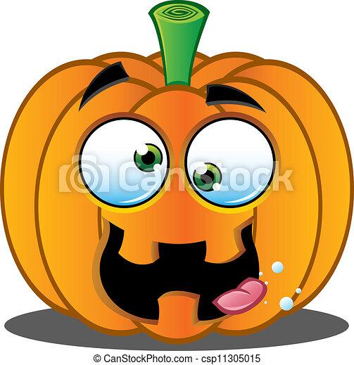 Jack o lantern pumpkin face 9 csp11305015