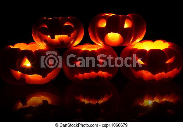 Jack-O-Lanterns - csp11066679