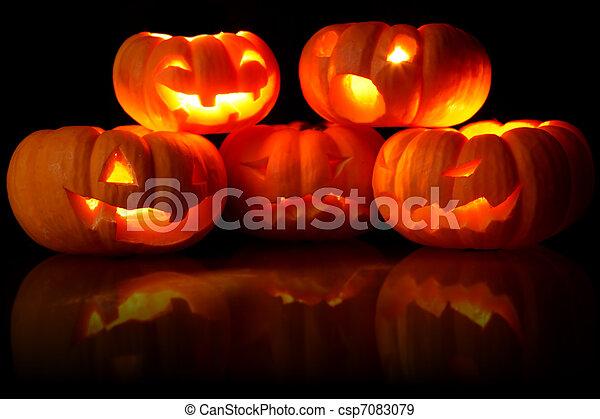 Jack-O-Lanterns - csp7083079