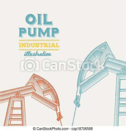 jack., pumpa, olaj - csp18706588