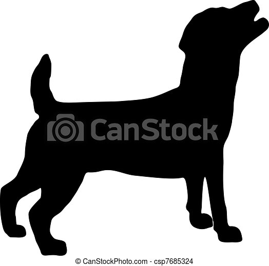 Jack Russel Terrier Silhouette - csp7685324