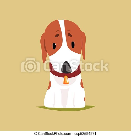 Jack russell puppy character cute terrier vector illustration on a