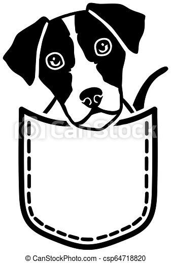 Pocket Dog Clipart Vector Graphics 98 Pocket Dog Eps Clip Art