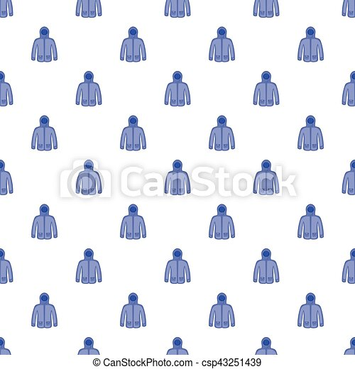 Jacket With Hood Pattern Cartoon Style Jacket With Hood Pattern