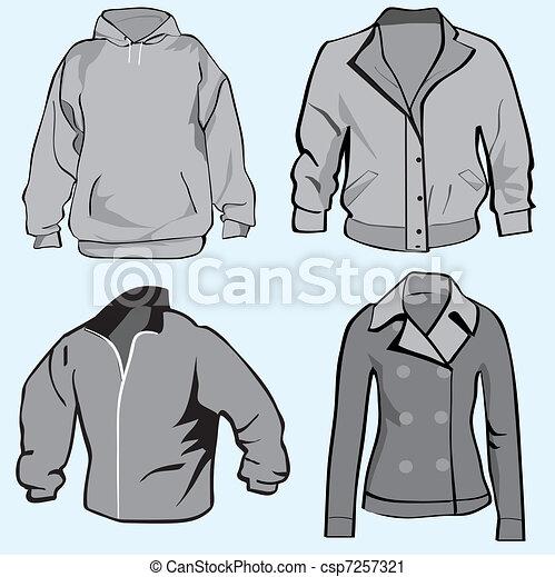 Jacket,hoodie set template - csp7257321