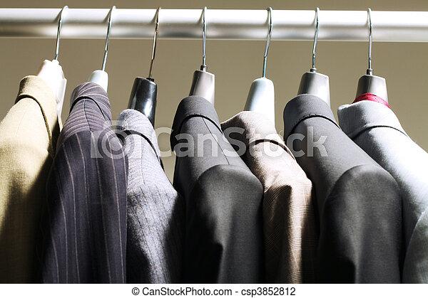 Jackets in wardrobe - csp3852812
