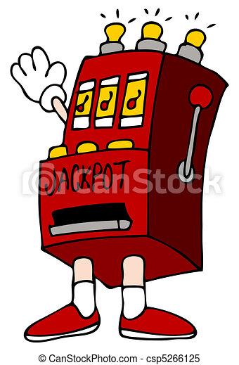 Slot Machine Jackpot Cartoon