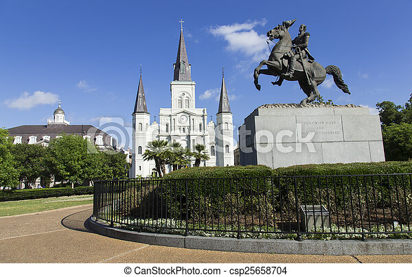 Jackson Square in New Orleans - csp25658704