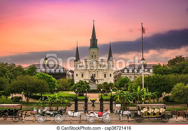 Jackson Square New Orleans - csp38721416