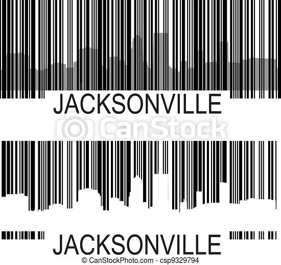 jacksonville barcode jacksonville high rise buildings eps vector