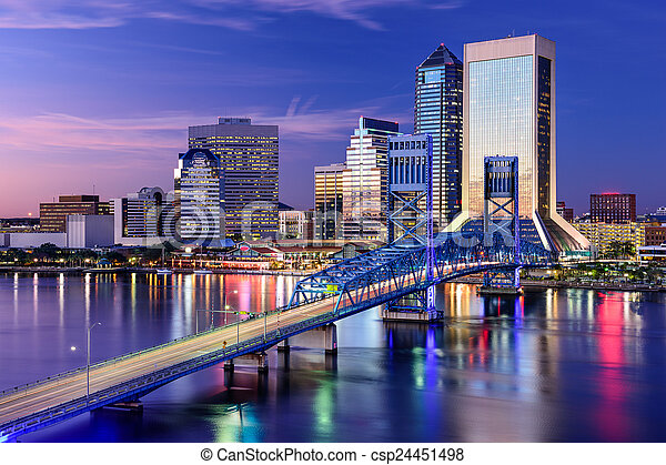 Jacksonville, Florida Skyline - csp24451498