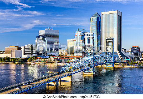 Jacksonville, Florida Skyline - csp24451733
