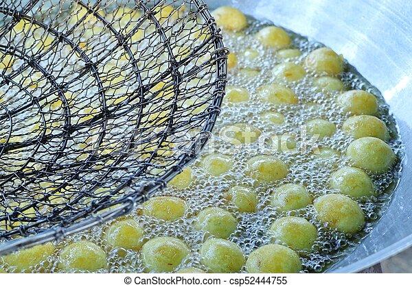 jadło, słodki, ulica, dosmażany kartofel - csp52444755