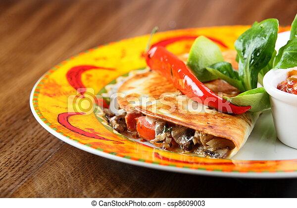 jadło, stół, drewno - csp8609003