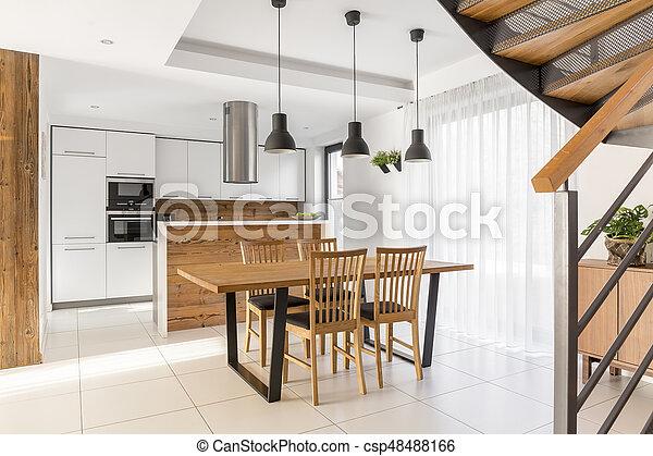 Jadalny Otwarty Pokój Kuchnia