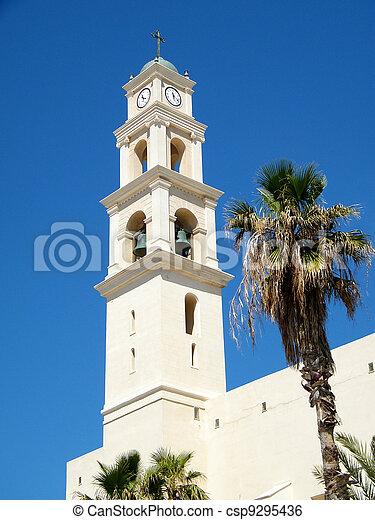 jaffa, ピーター, st., 教会, タワー, 2011 - csp9295436