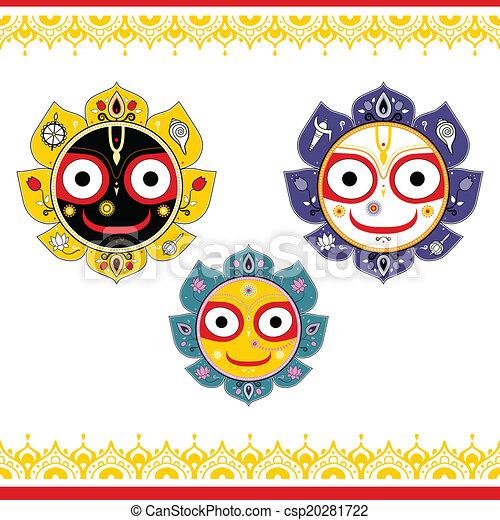 jagannath., dieu, indien, universe. - csp20281722