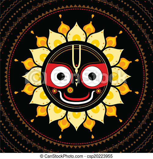 Jagannath. Indian God of the Universe. - csp20223955
