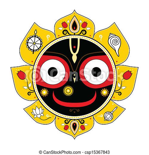 Jagannath. Indian God of the Universe. - csp15367843