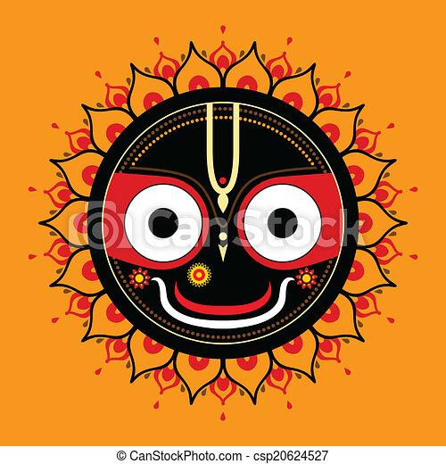 Jagannath. Indian God of the Universe. - csp20624527