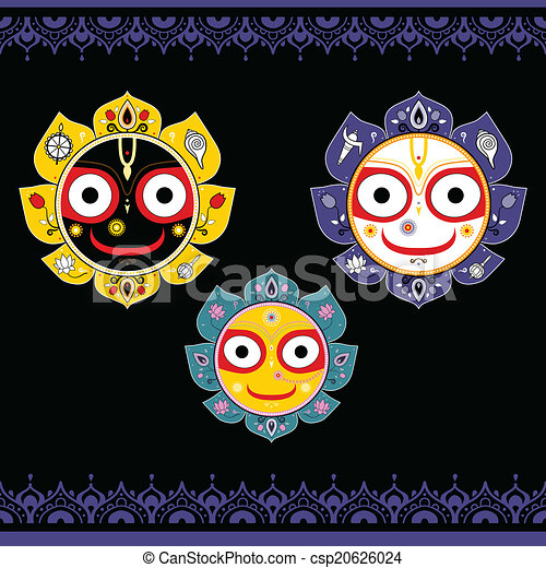 Jagannath. Indian God of the Universe. - csp20626024