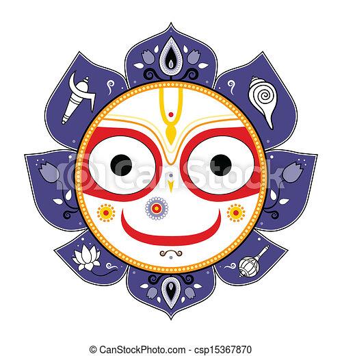 Jagannath. Indian God of the Universe. - csp15367870