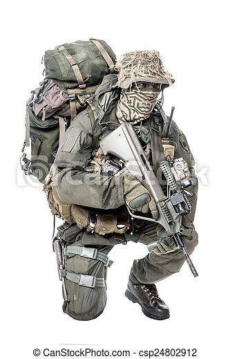 Jagdkommando soldier Austrian special forces - csp24802912