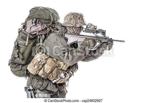Jagdkommando soldier Austrian special forces - csp24802907