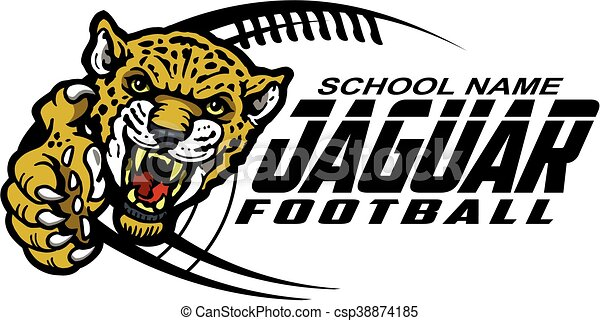 jaguar football team design with mascot for school college or league rh canstockphoto com Jaguar Mascot Blue Jaguar Mascot Logos