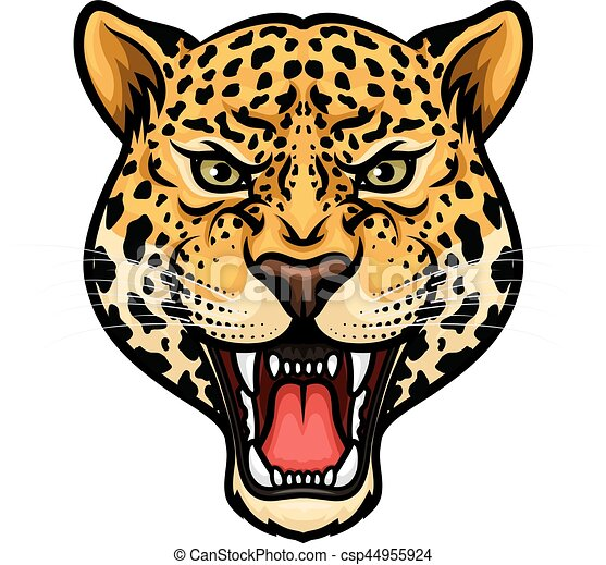 Jaguar head isolated cartoon mascot design - csp44955924