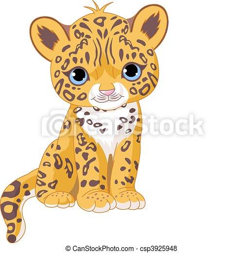 jaguar, petit, mignon - csp3925948