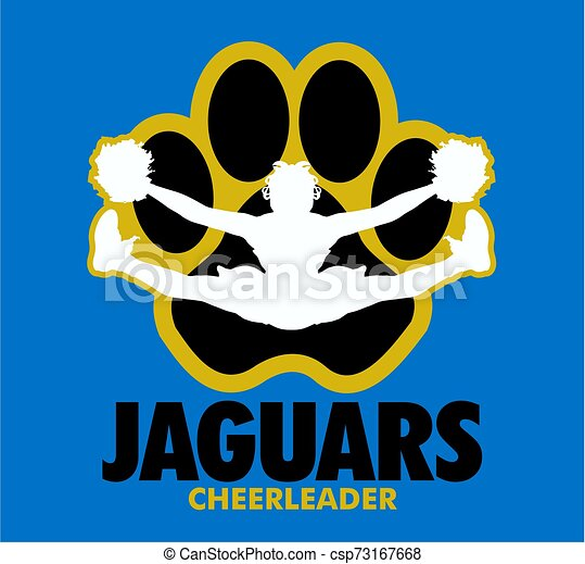 Chevron cheer design with cheerleader doing a toe touch.