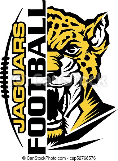 jaguars football team design with mascot and laces for vectors rh canstockphoto com free jaguar mascot clipart