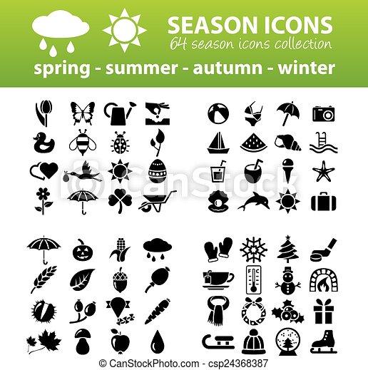 Jahreszeiten-Ikonen - csp24368387