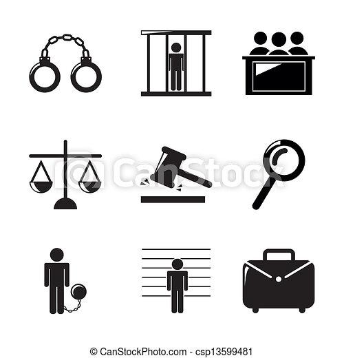 jail icons - csp13599481