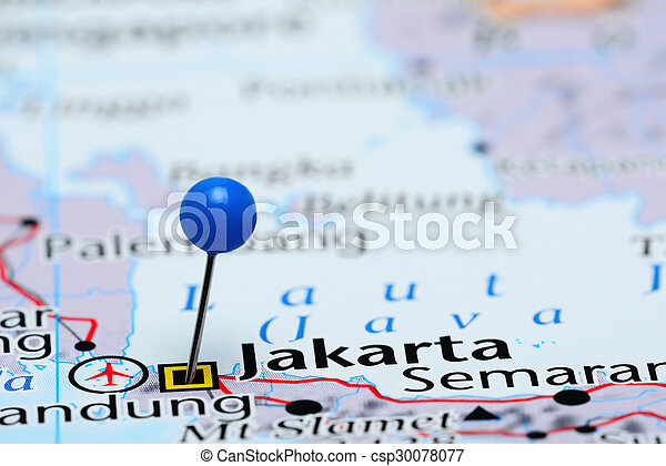 Map Of Asia Jakarta.Jakarta Pinned On A Map Of Asia Photo Of Pinned Jakarta On A Map Of