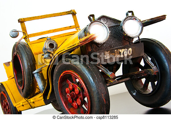 Jalopy Toy Car With Headlights