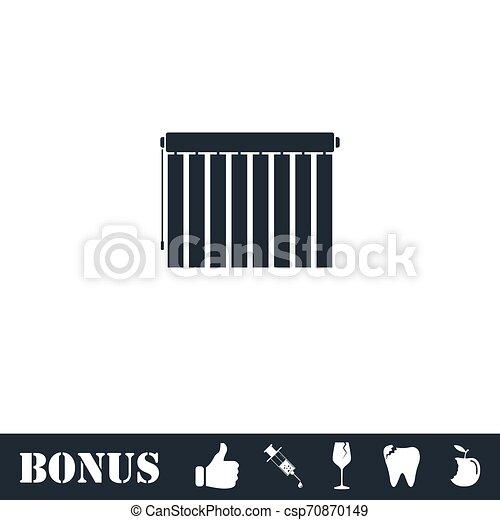 Jalousie icon flat - csp70870149