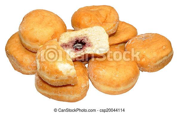 jam, doughnuts, gevulde - csp20044114