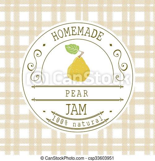 jam label design template pear jam label design template for pear