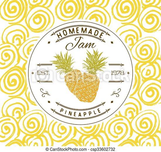 jam label design template pineapple jam label design template for
