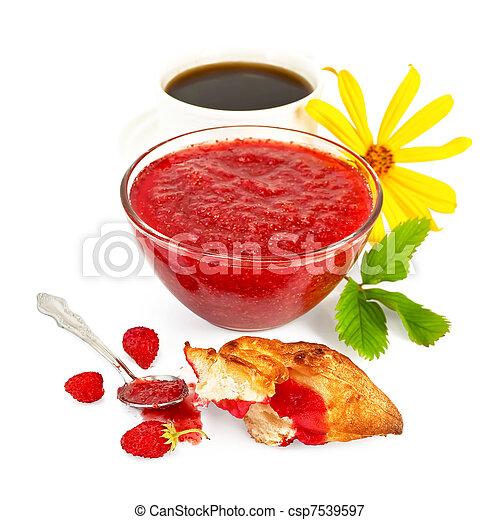 Jam strawberry with coffee - csp7539597