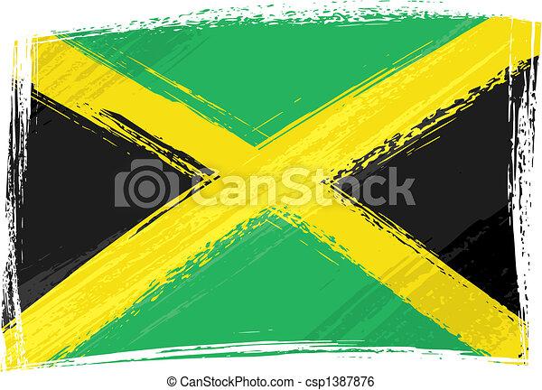jamaica läßt, grunge - csp1387876