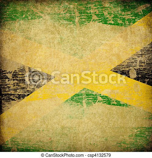 jamaica läßt, grunge, hintergrund. - csp4132579