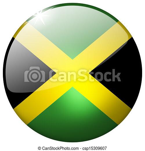 Jamaica Round Glass Button - csp15309607