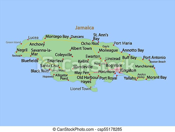 Jamaica-world-countries-vectormap-a. Map of jamaica. shows country ...