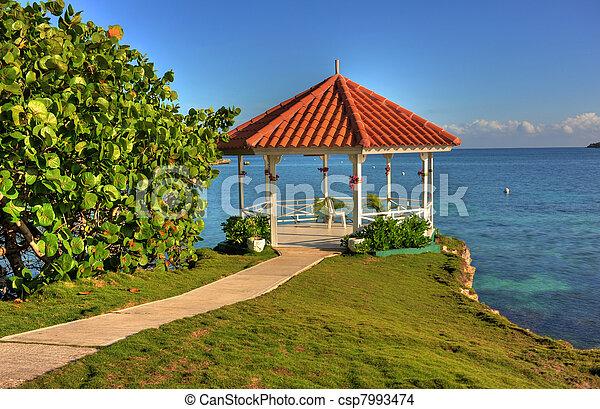 jamaika, gazebo, wedding - csp7993474